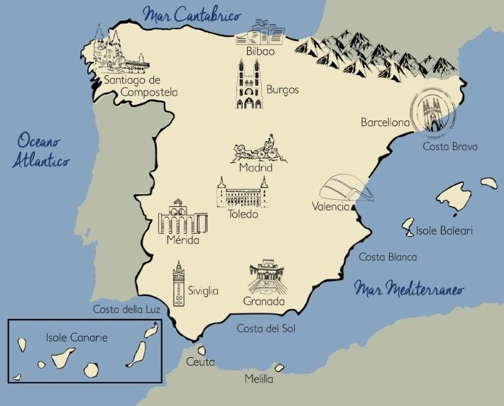 Tenerife Cartina Spagna.Spagna Travelbuy Cosenza Agenzia Viaggi